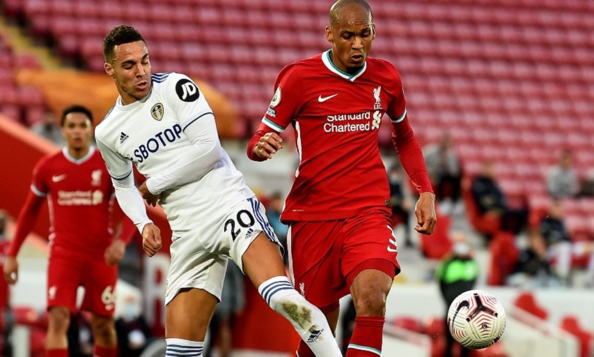 Liverpool vs Leeds United during the opening weekend of the English Premier League weekend on 12 September 2020.