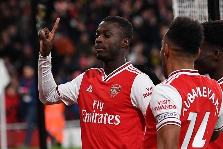 Arsenal FC's Nicolas Pepe. UEFA Europa League.