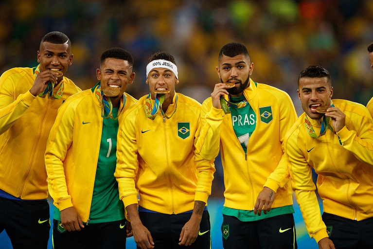The defending Olympics champions Brazil begin their title-retaining quest against Germany in a Group D clash on Thursday.