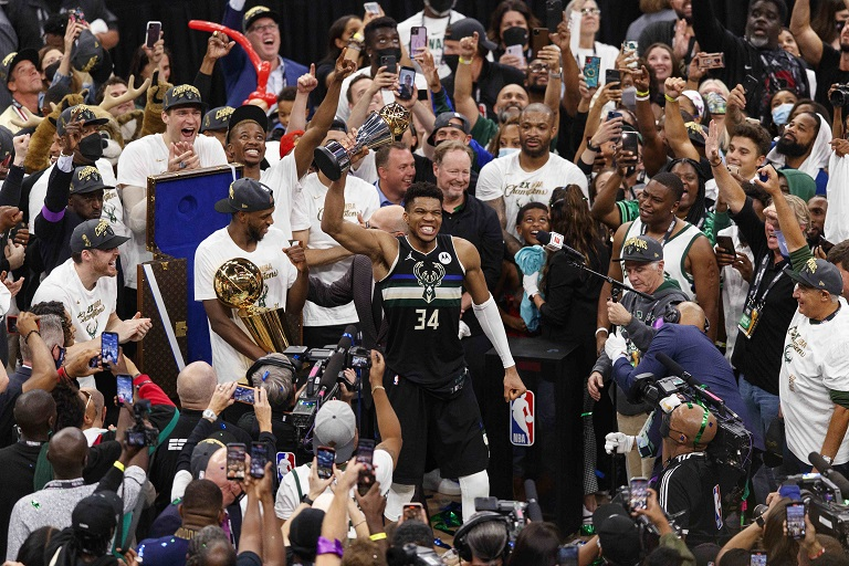 On Wednesday, Giannis Antetokounmpo hit a remarkable 50 points to inspire the Milwaukee Bucks to a first NBA title in 50 years.