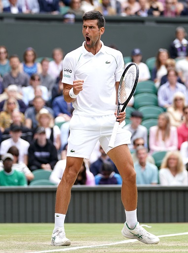 Djokovic is nearing Roger Federer's record of 20 Grand Slam titles, after the Swiss was knocked out in the quarters by Hubert Hurkacz.