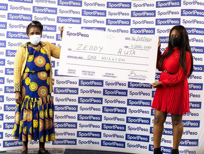 The SportPesa Jijenge Na Euros campaign culminated by rewarding Zeddy Ruta with the grand prize of KSHs 1 million.