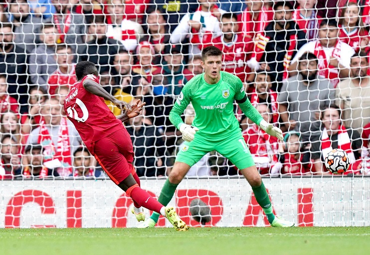 Sadio Mane scored his 50th English Premier League goal for Liverpool to clinch a 2-0 home win over Burnley at the weekend.