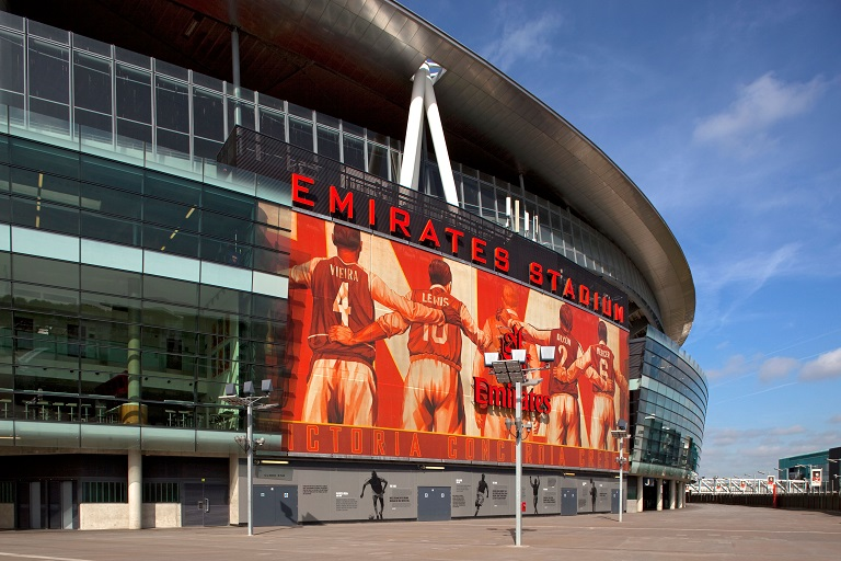 The Emirates stadium is expected to have a capacity crowd on Sunday as Arsenal host Tottenham Hotspur in the English Premier League.