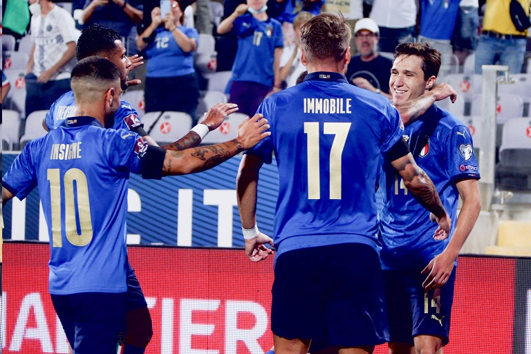 Italy will play Spain in the first semi-final of the UEFA Nations League on Wednesday night seeking to maintain their unbeaten run.